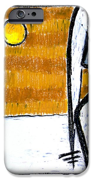 Celebrities Art Pastels iPhone Cases - Solo io iPhone Case by Natalia E Woytasik