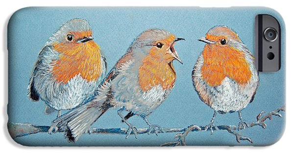 Baby Bird Pastels iPhone Cases - Soloist iPhone Case by Robin Coats