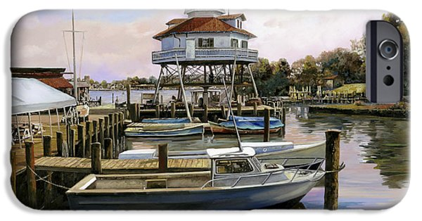 Virginia iPhone Cases - Solomons Island iPhone Case by Guido Borelli
