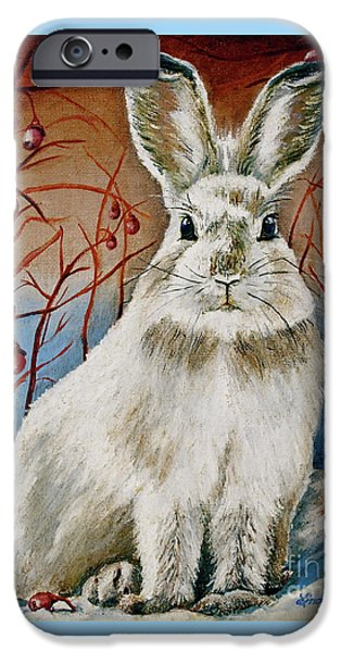 Berry iPhone Cases - Some Bunny is Charming iPhone Case by Linda Simon