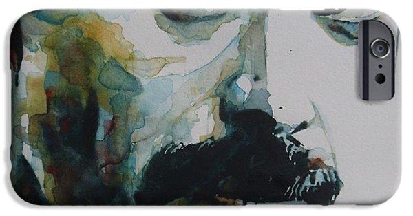 Photo Paintings iPhone Cases - Freddie Mercury iPhone Case by Paul Lovering