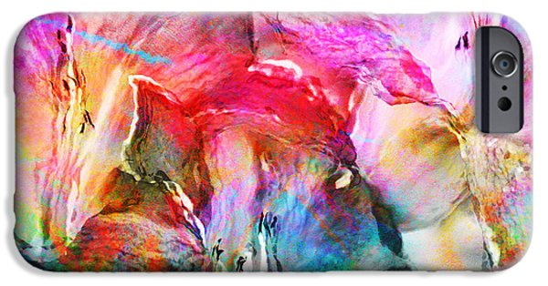 Best Sellers -  - Floral Digital Art Digital Art iPhone Cases - Somebodys Smiling - Abstract Art iPhone Case by Jaison Cianelli