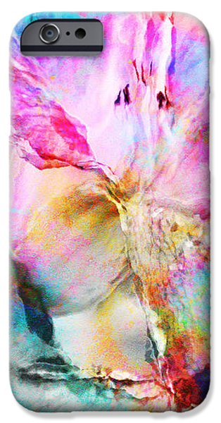Abstract Canvas Paintings iPhone Cases - Somebodys Smiling - Abstract Art iPhone Case by Jaison Cianelli