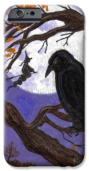 Recently Sold -  - Tree Art Print iPhone Cases - Somebodys Watching iPhone Case by Margaryta Yermolayeva