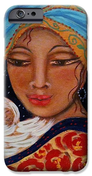 Maya Telford iPhone Cases - Someone To Watch Over Me iPhone Case by Maya Telford