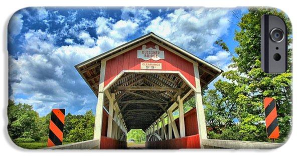 Covered Bridge iPhone Cases - Somerset PA Glessner Bridge iPhone Case by Adam Jewell