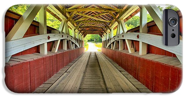Covered Bridge iPhone Cases - Somerset Wooden Roads iPhone Case by Adam Jewell