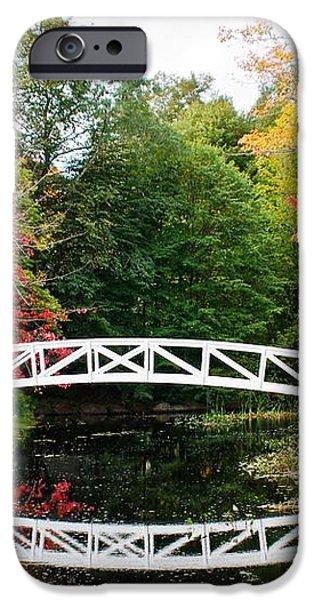 Somesville Bridge in Autumn iPhone Case by Debbie Lloyd