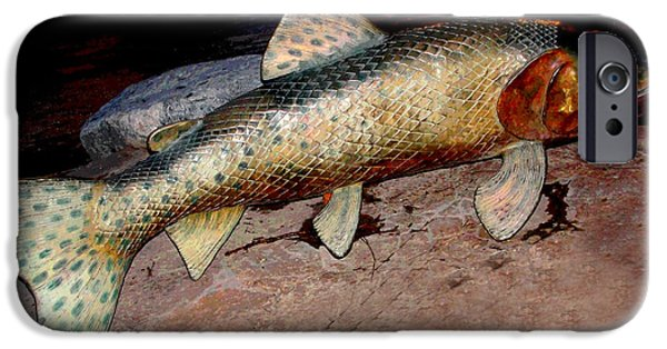 Golden Trout iPhone Cases - Something Fishy iPhone Case by Charlie and Norma Brock