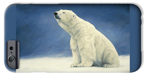 Bear iPhone Cases - Something In The Air iPhone Case by Lucie Bilodeau