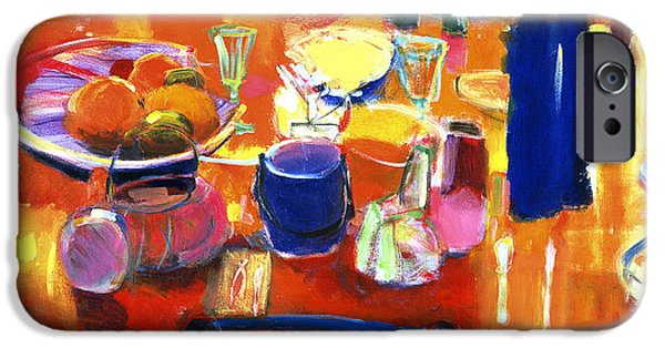 Interior Still Life iPhone Cases - Something Simple, 2000 Acrylic On Canvas iPhone Case by Martin Decent