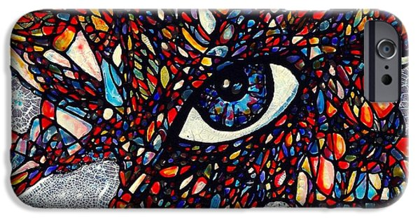 Vivid Glass iPhone Cases - Something To Do With Creepy Staring Eyes iPhone Case by Teresa Young