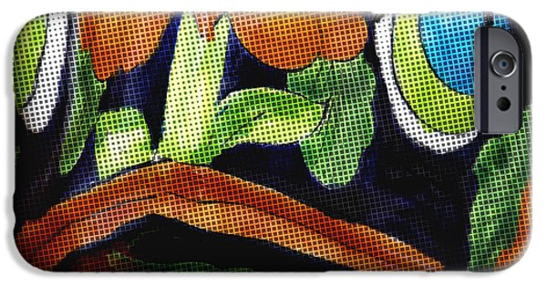 Ceramic Mixed Media iPhone Cases - Somethings Fishey iPhone Case by Rosalie Scanlon