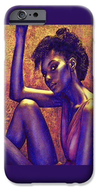 African-american Digital Art iPhone Cases - Sometimes I Imagine iPhone Case by Jane Schnetlage