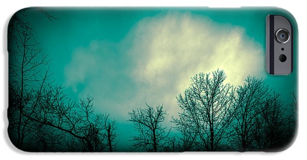 Surreal Landscape Photographs iPhone Cases - Somewhere Between Here and There iPhone Case by Bob Orsillo