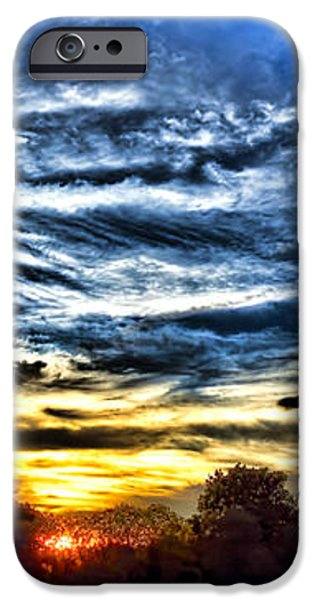 Sunset iPhone Cases - Somewhere on Earth iPhone Case by Olivier Le Queinec
