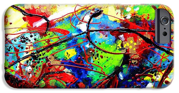 Fine Art Abstract iPhone Cases - Somewhere Over The Rainbow  II iPhone Case by John  Nolan