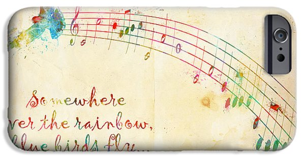 Papers iPhone Cases - Somewhere Over the Rainbow iPhone Case by Nikki Smith