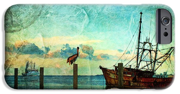 Sailboat Ocean iPhone Cases - Somewhere...beyond the sea iPhone Case by Lianne Schneider