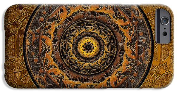 Disc iPhone Cases - Song Of Heaven Mandala iPhone Case by Michele  Avanti