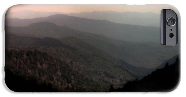 Smokey Mountains iPhone Cases - SONG of SERENITY iPhone Case by Karen Wiles