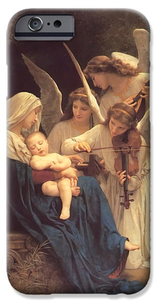 Christian work Paintings iPhone Cases - Song of the Angels iPhone Case by Bouguereau