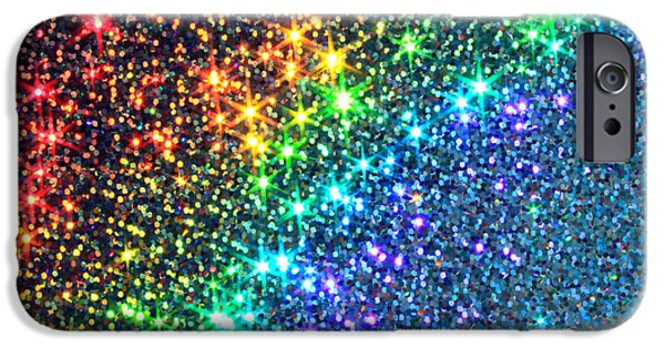 Abstract Digital Photographs iPhone Cases - Song of the Stars iPhone Case by Dazzle Zazz