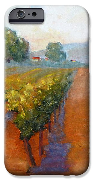 Sonoma Vineyard iPhone Case by Carolyn Jarvis