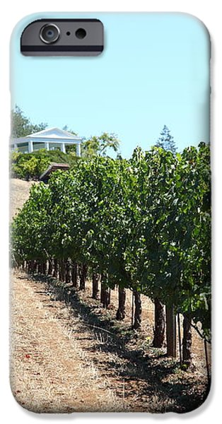 Sonoma Vineyards In The Sonoma California Wine Country 5D24507 iPhone Case by Wingsdomain Art and Photography