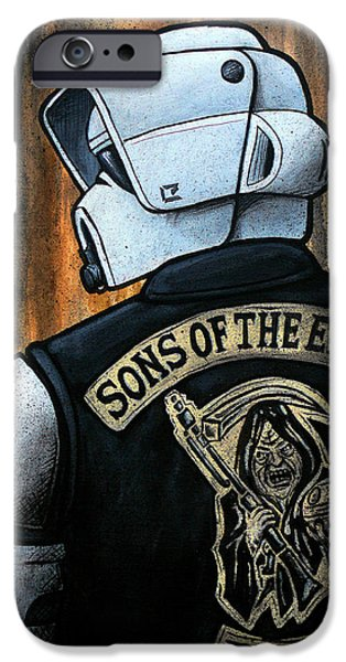 Science Paintings iPhone Cases - Sons of the Empire iPhone Case by Marlon Huynh