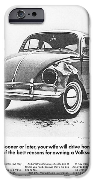 Volks iPhone Cases - Sooner or later your wife will drive home.............. iPhone Case by Nomad Art And  Design