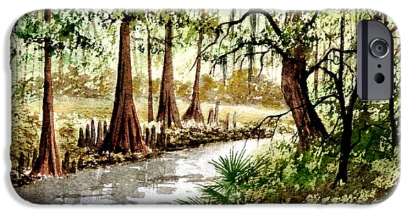 Franklin iPhone Cases - Sopchoppy River Florida iPhone Case by Bill Holkham