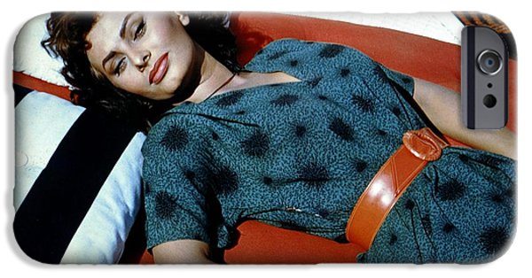 1950s Movies iPhone Cases - Sophia Loren in Boy on a Dolphin iPhone Case by Nomad Art And  Design