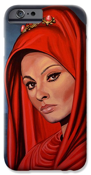 Sophia Loren iPhone Case by Paul  Meijering