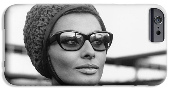 1950s Movies iPhone Cases - Sophia Loren Sunglasses Photo iPhone Case by Nomad Art And  Design