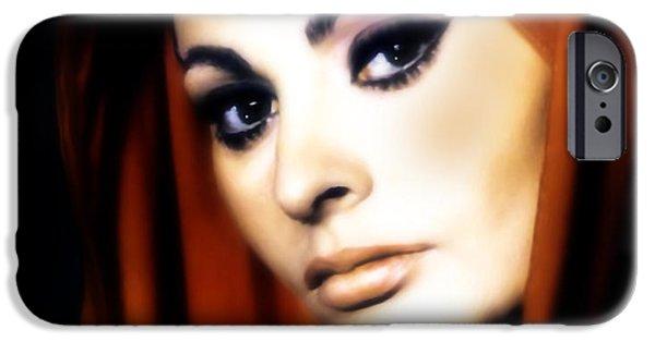 Youthful iPhone Cases - Sophia Loren iPhone Case by Georgiana Romanovna
