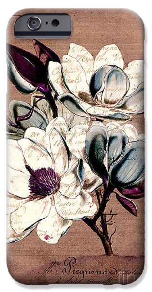 Florals iPhone Cases - Sophisticated -02bb1d iPhone Case by Variance Collections