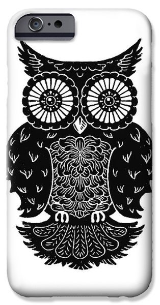 Kyle Wood iPhone Cases - Sophisticated Owls 3 of 4 iPhone Case by Kyle Wood