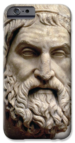 Figure Sculptures iPhone Cases - Sophocles iPhone Case by Greek School