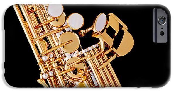 Soprano iPhone Cases - Soprano Saxophone Photograph Picture Color 3354.01 iPhone Case by M K  Miller