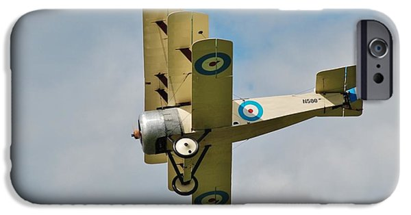 Sopwith Triplane iPhone Cases - Sopwith N500 triplane iPhone Case by David Fowler