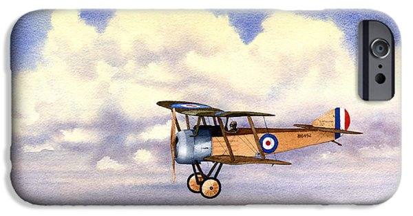 World War One Paintings iPhone Cases - Sopwith Pup iPhone Case by Douglas Castleman