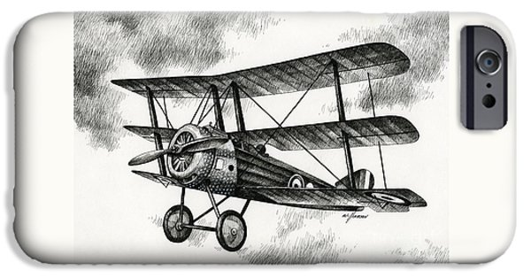 Sopwith Triplane iPhone Cases - Sopwith Triplane 1917 iPhone Case by James Williamson