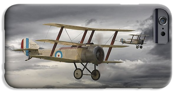 Fokker D V11 iPhone Cases - Sopwith Triplane iPhone Case by Pat Speirs