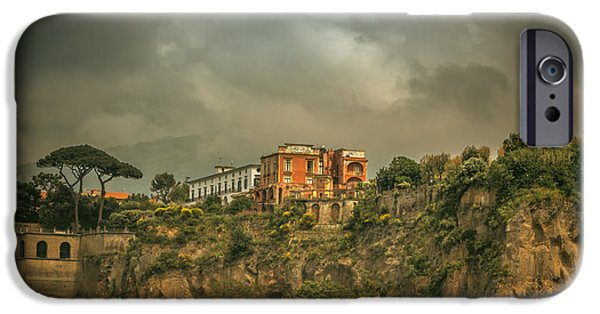 Fletcher iPhone Cases - Sorrento Cliff top residence iPhone Case by Chris Fletcher