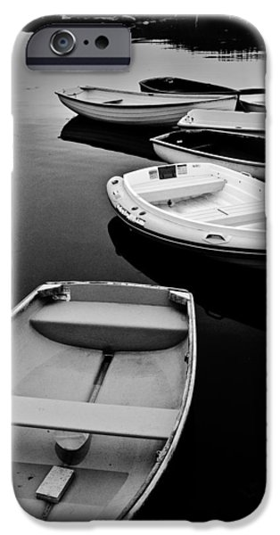 Maine iPhone Cases - Sorrento Harbor Boats 3 iPhone Case by Bill Barber
