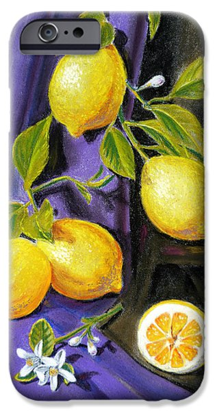Lemon iPhone Cases - Sorrento Lemons iPhone Case by Irina Sztukowski