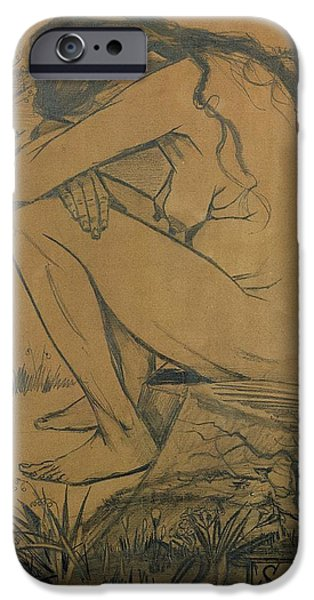 Despair iPhone Cases - Sorrow, 1882 Pencil, Pen And Ink iPhone Case by Vincent van Gogh