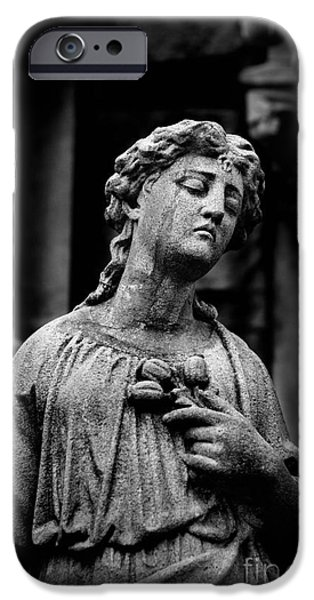Sorrow Allegheny Cemetery Pittsburgh  iPhone Case by Amy Cicconi