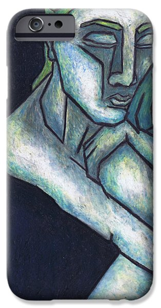 Colorful Abstract Pastels iPhone Cases - Sorrow iPhone Case by Kamil Swiatek
